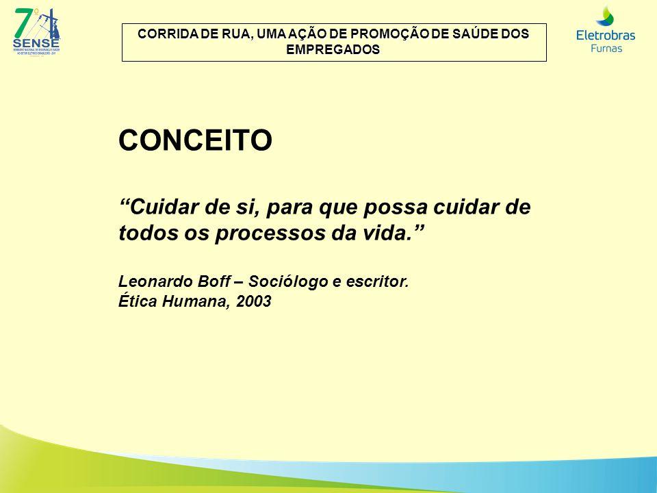 CONCEITO Cuidar de si, para que possa cuidar de todos os processos da vida. Leonardo Boff – Sociólogo e escritor. Ética Humana, 2003