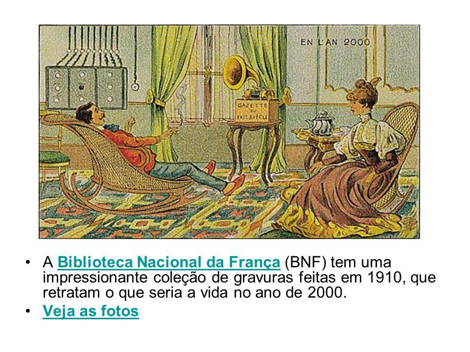 A Biblioteca Nacional da França (BNF) tem uma impressionante coleção de gravuras feitas em 1910, que retratam o que seria a vida no ano de 2000.Biblio