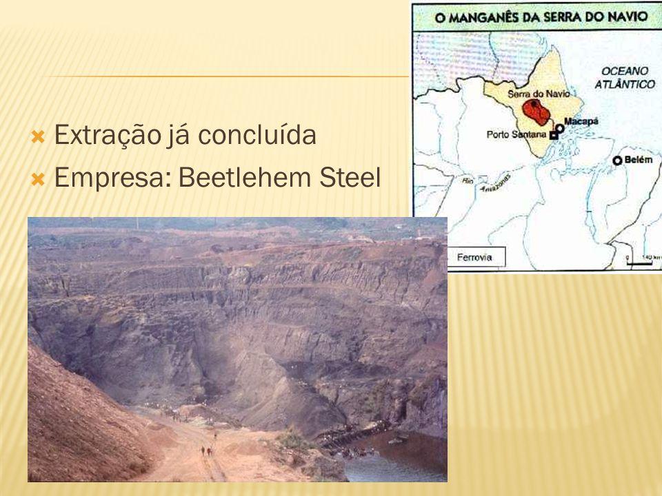 Extração já concluída Empresa: Beetlehem Steel