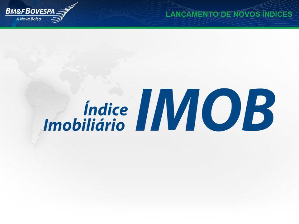 Objetivo Medir o comportamento das ações das ações representativas dos setores de: CONSTRUÇÃO CIVIL INTERMEDIAÇÃO IMOBILIÁRIA EXPLORAÇÃO DE IMÓVEIS