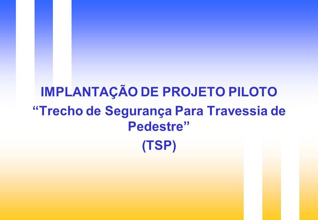 IMPLANTAÇÃO DE PROJETO PILOTO Trecho de Segurança Para Travessia de Pedestre (TSP)