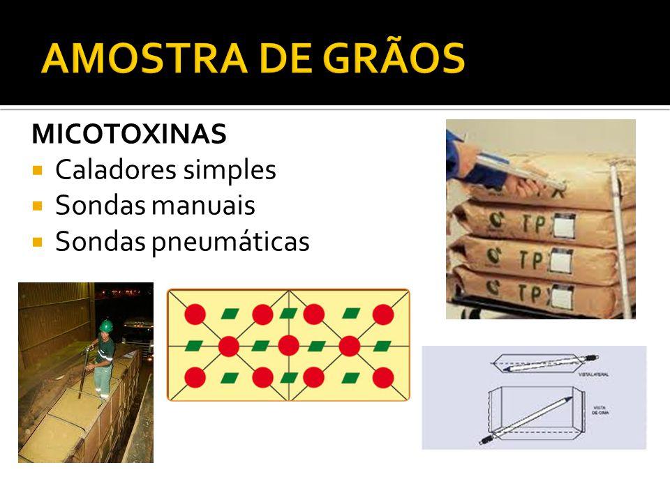 MICOTOXINAS Caladores simples Sondas manuais Sondas pneumáticas