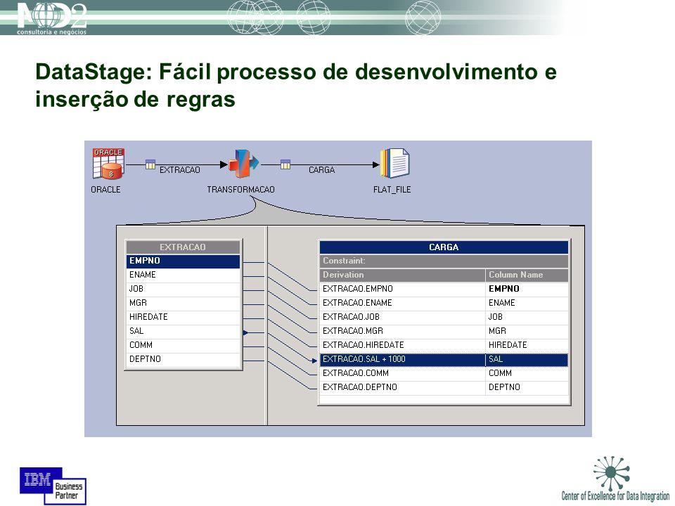 DataStage: Fácil processo de desenvolvimento e inserção de regras