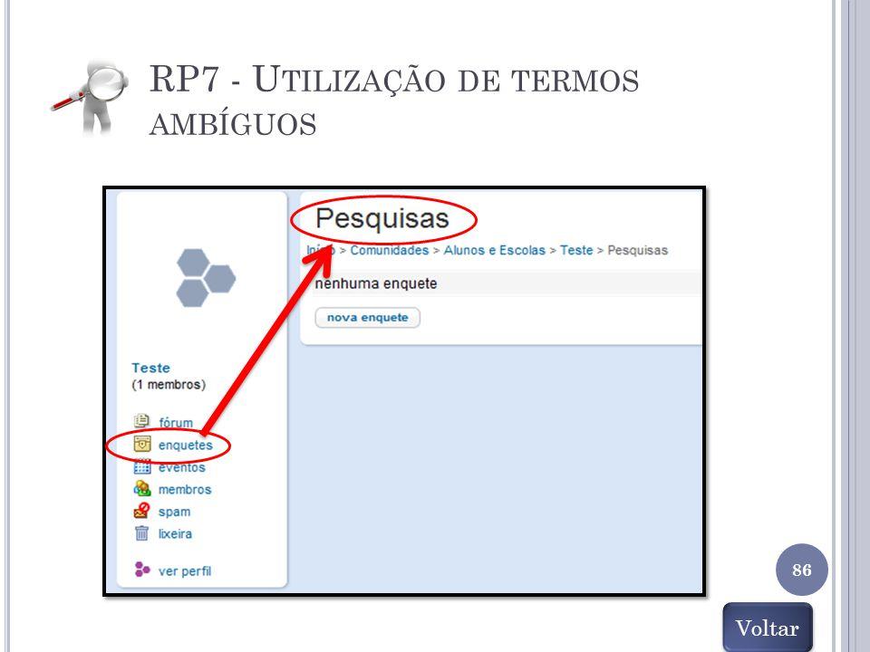 86 RP7 - U TILIZAÇÃO DE TERMOS AMBÍGUOS Voltar