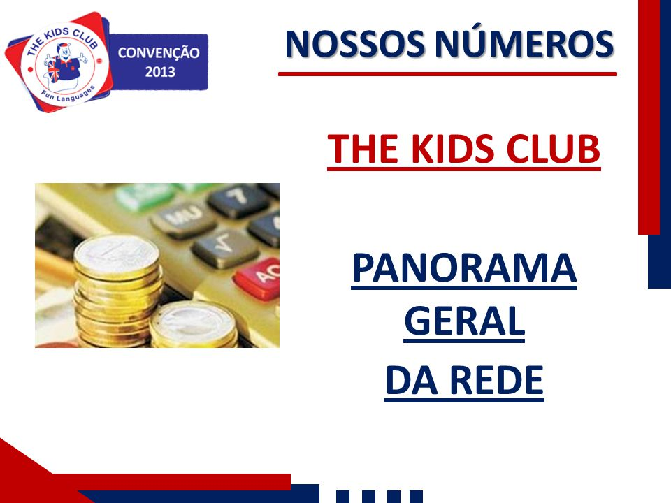 THE KIDS CLUB PANORAMA GERAL DA REDE NOSSOS NÚMEROS
