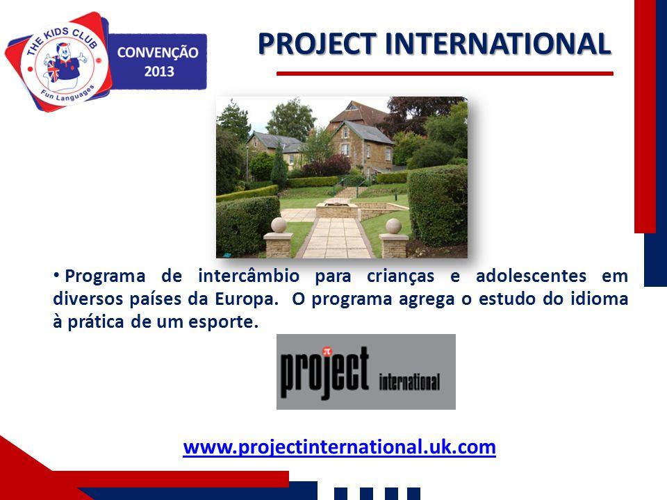 PROJECT INTERNATIONAL Nossos Números Programa de intercâmbio para crianças e adolescentes em diversos países da Europa. O programa agrega o estudo do