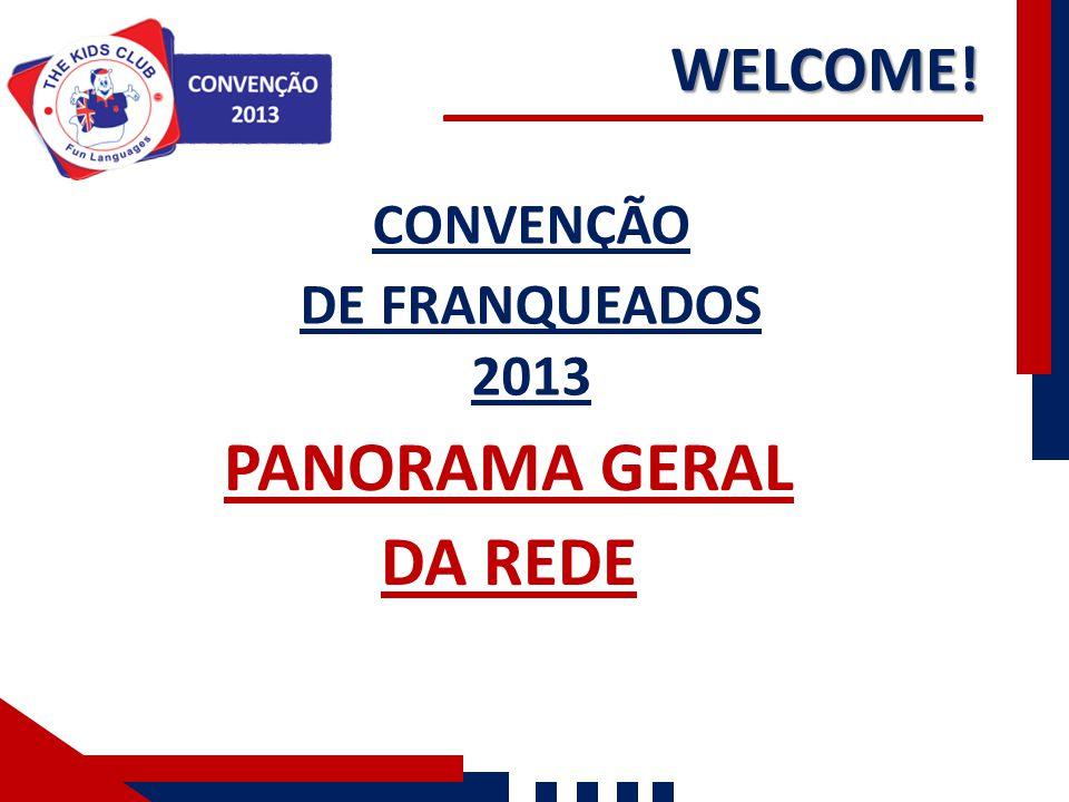 CONVENÇÃO DE FRANQUEADOS 2013 PANORAMA GERAL DA REDE WELCOME!