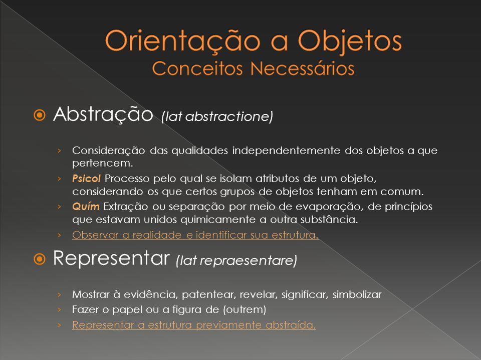 Abstração (lat abstractione) Consideração das qualidades independentemente dos objetos a que pertencem. Psicol Processo pelo qual se isolam atributos