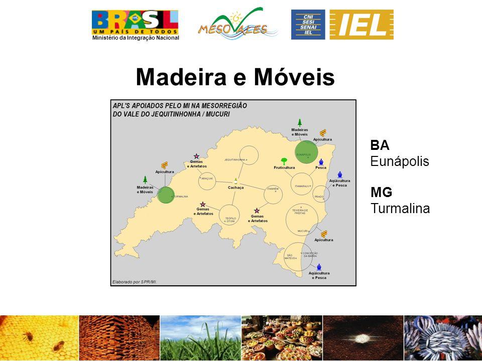 Ministério da Integração Nacional Madeira e Móveis BA Eunápolis MG Turmalina