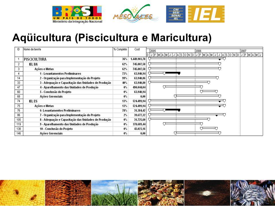 Ministério da Integração Nacional Aqüicultura (Piscicultura e Maricultura)