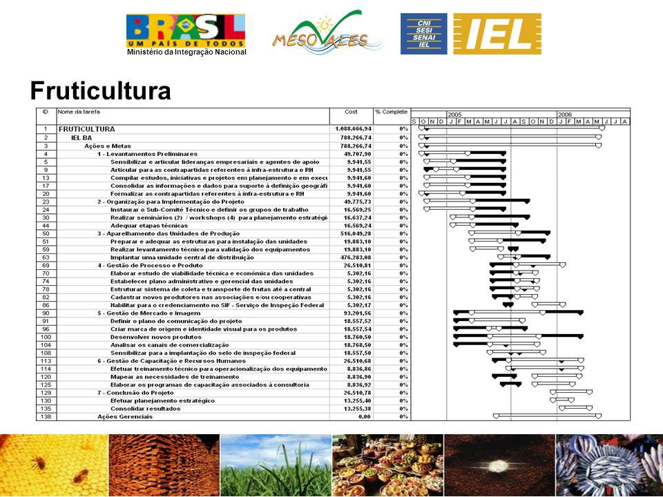 Ministério da Integração Nacional Fruticultura