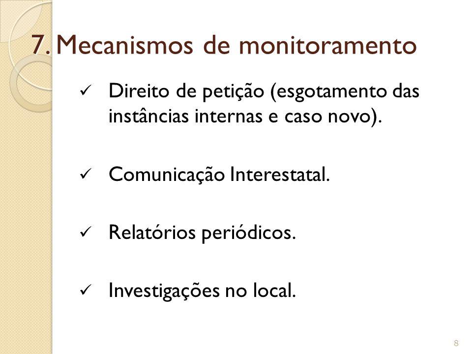 Relatório sobre o Brasil, Human Rights Watch (2006 e 2007).