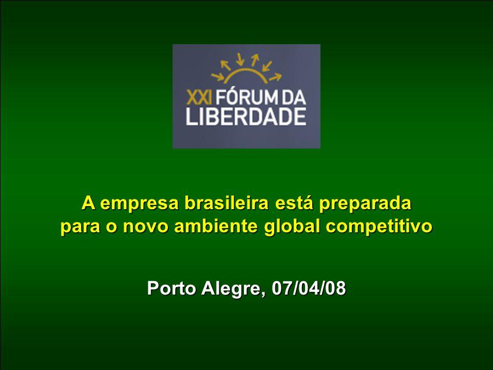 Porto Alegre, 07/04/08 A empresa brasileira está preparada para o novo ambiente global competitivo