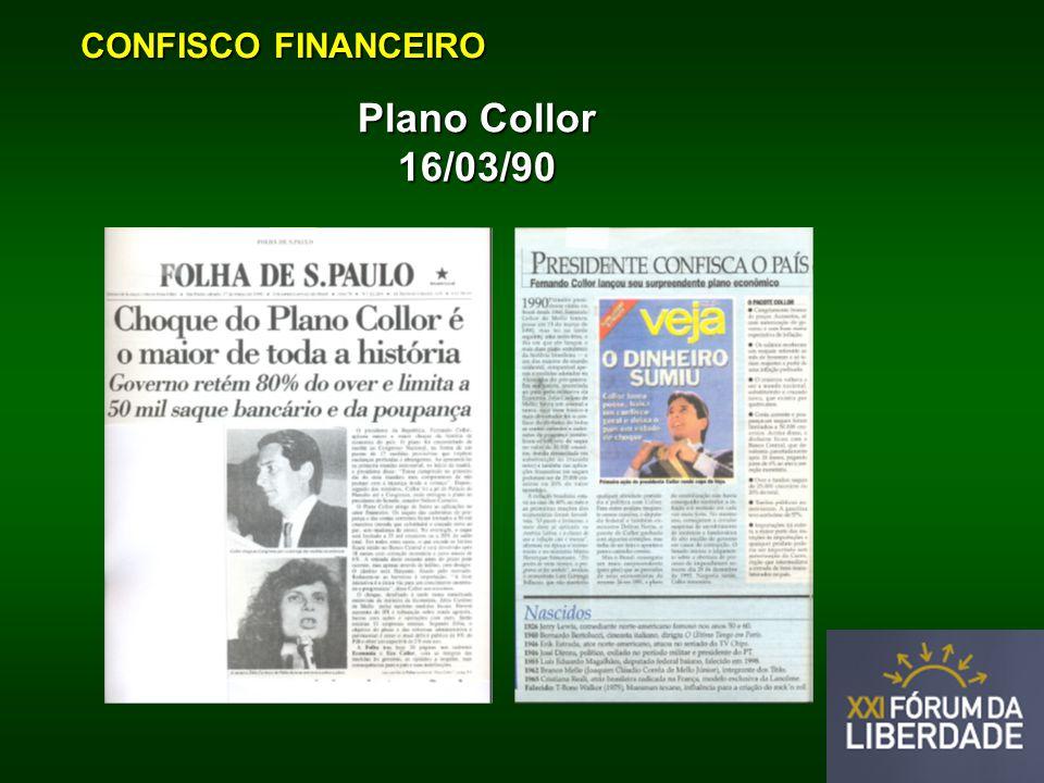 CONFISCO FINANCEIRO Plano Collor 16/03/90