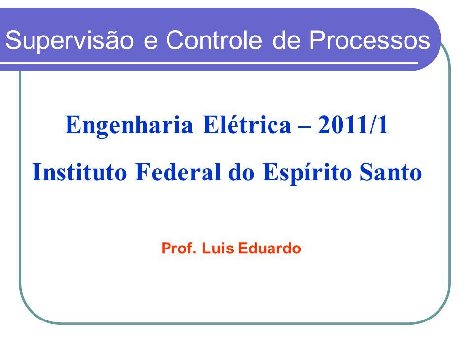 Engenharia Elétrica – 2011/1 Instituto Federal do Espírito Santo Supervisão e Controle de Processos Prof. Luis Eduardo