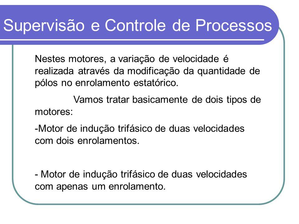 Nestes motores, a variação de velocidade é realizada através da modificação da quantidade de pólos no enrolamento estatórico. Vamos tratar basicamente