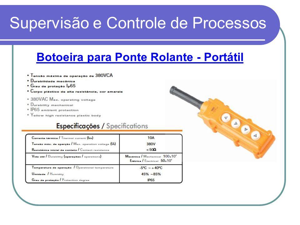 Supervisão e Controle de Processos Botoeira para Ponte Rolante - Portátil