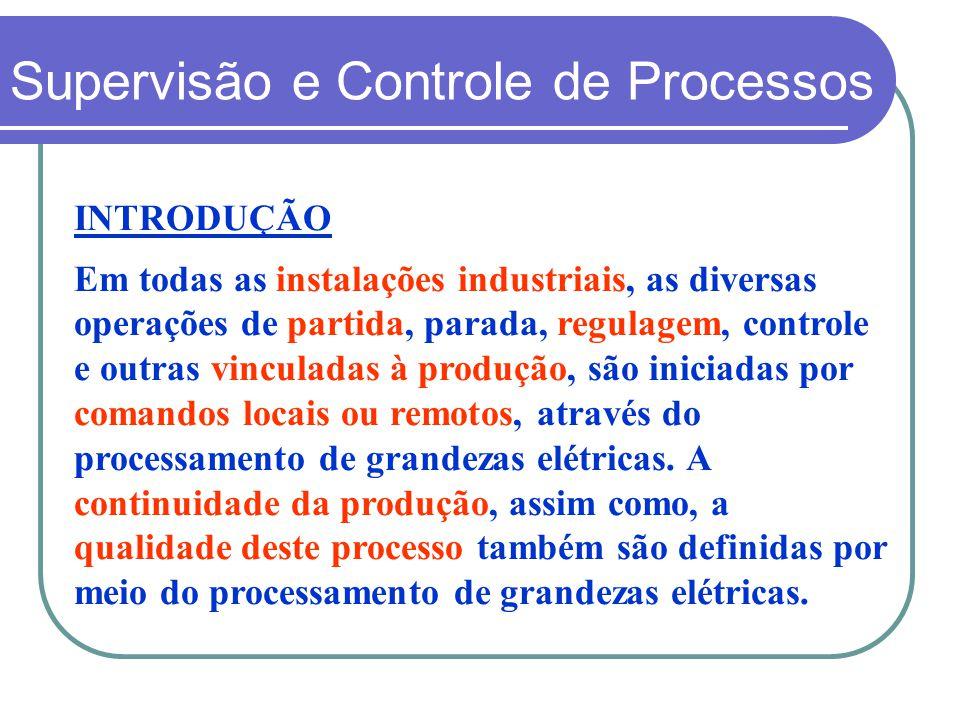 INTRODUÇÃO Em todas as instalações industriais, as diversas operações de partida, parada, regulagem, controle e outras vinculadas à produção, são inic