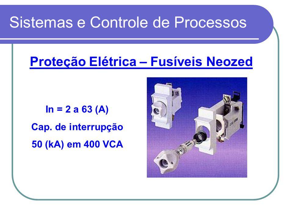 Sistemas e Controle de Processos Proteção Elétrica – Fusíveis Neozed In = 2 a 63 (A) Cap. de interrupção 50 (kA) em 400 VCA
