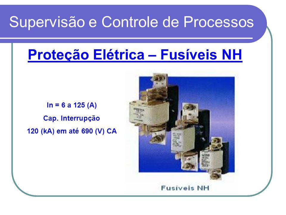 Supervisão e Controle de Processos Proteção Elétrica – Fusíveis NH In = 6 a 125 (A) Cap. Interrupção 120 (kA) em até 690 (V) CA