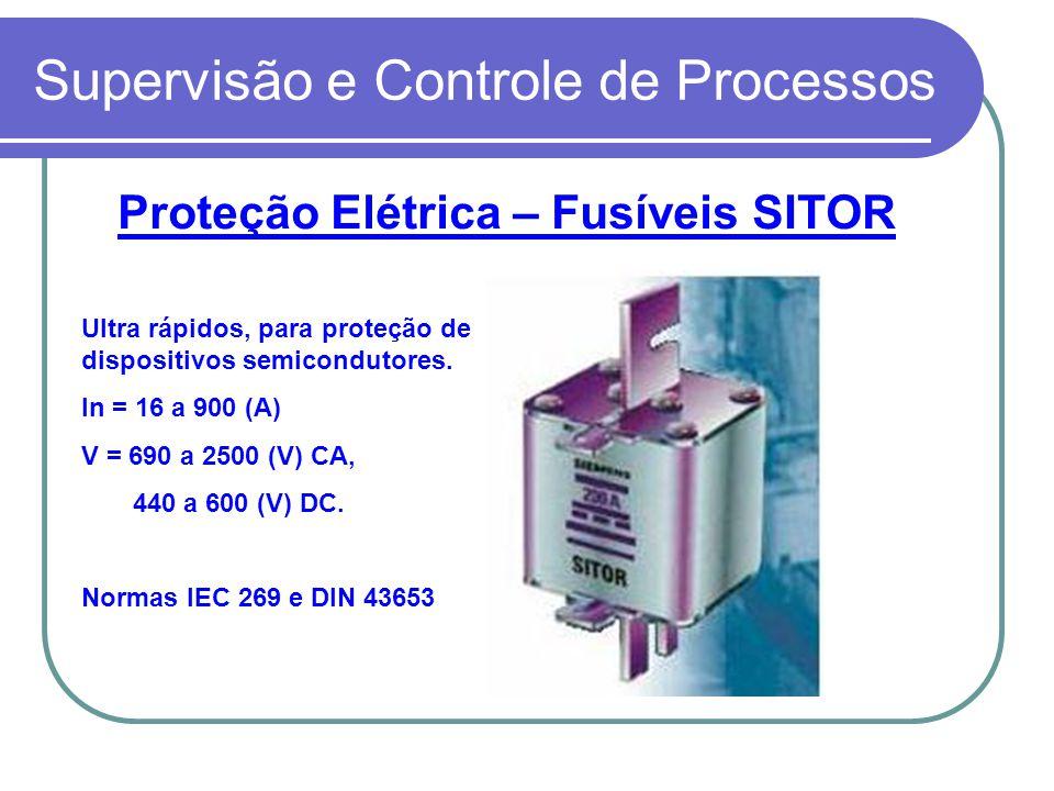 Supervisão e Controle de Processos Proteção Elétrica – Fusíveis SITOR Ultra rápidos, para proteção de dispositivos semicondutores. In = 16 a 900 (A) V