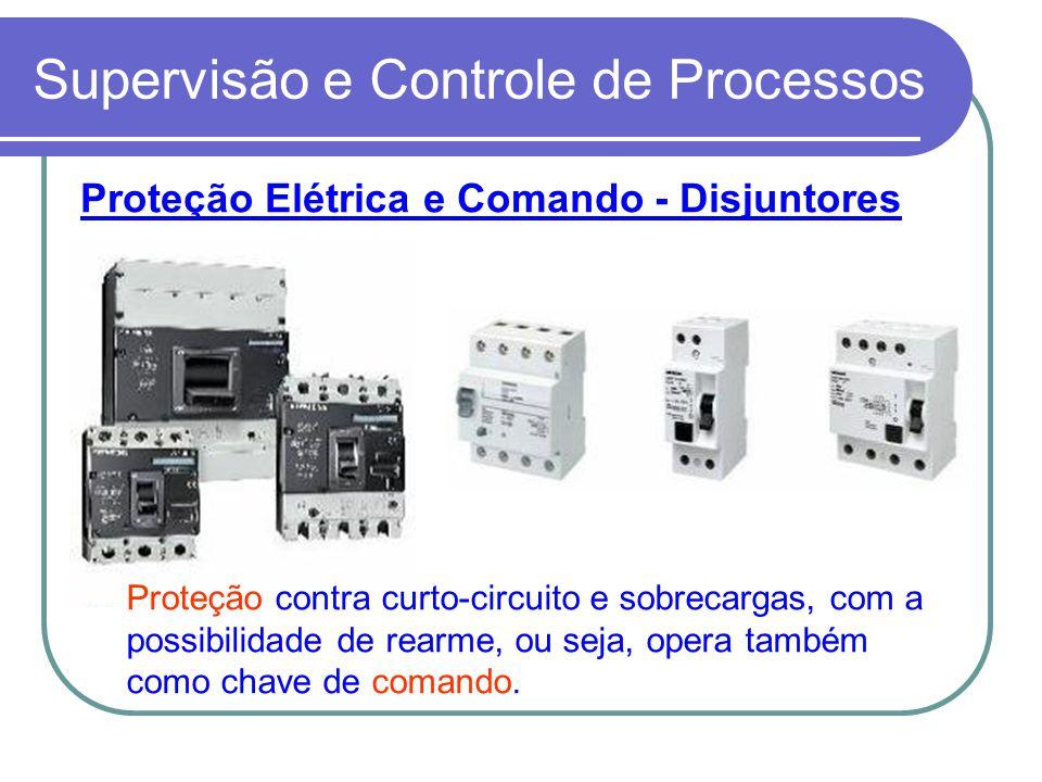 Supervisão e Controle de Processos Proteção Elétrica e Comando - Disjuntores Proteção contra curto-circuito e sobrecargas, com a possibilidade de rear