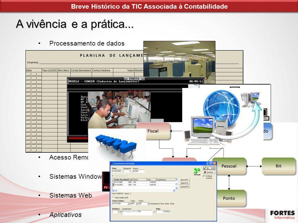 Processamento de dados Sistemas de Contabilidade para Microcomputador Popularização do Microcomputador Redes Locais de Computadores Integração de Sist