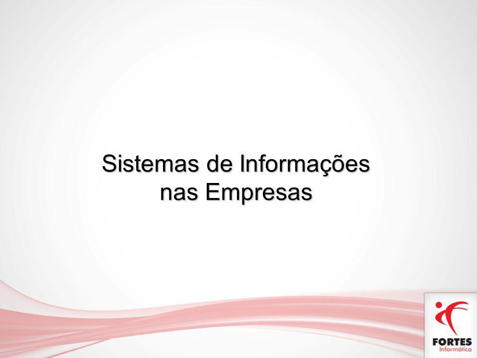 Etapas da Gestão Base de Dados Informação Conhecimento Tomada de Decisão Gestão Empresarial Controle Sistemas de Informações nas Empresas