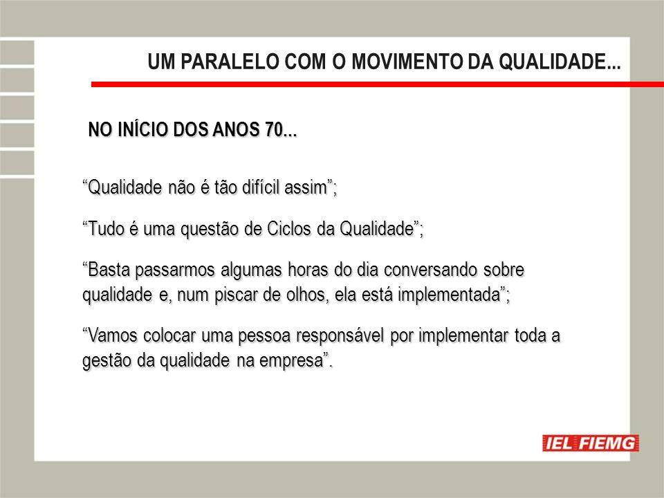 Slide 10 UM PARALELO COM O MOVIMENTO DA QUALIDADE...