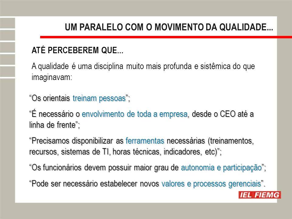 Slide 11 UM PARALELO COM O MOVIMENTO DA QUALIDADE...