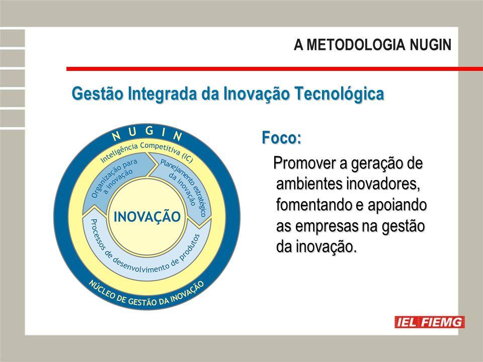 Slide 15 Gestão Integrada da Inovação Tecnológica Foco: Promover a geração de ambientes inovadores, fomentando e apoiando as empresas na gestão da inovação.