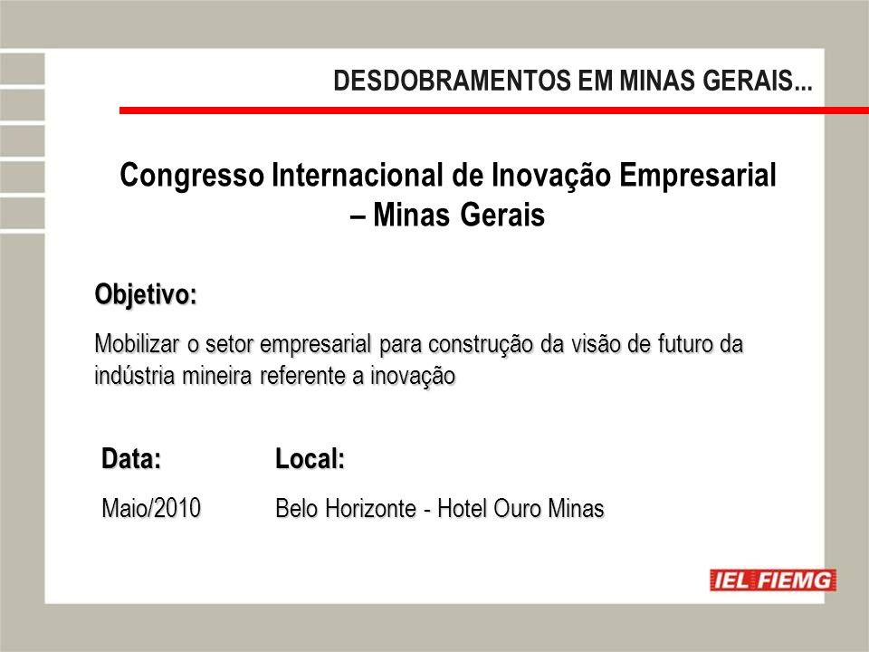 Slide 17 DESDOBRAMENTOS EM MINAS GERAIS...