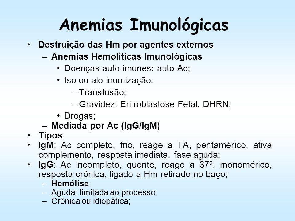 Diagnóstico Laboratorial Anemia hemolítica: CD negativo; Outras citopenias: –Leuco (infecções) e plaquetas (tromboses); Hemoglobinemia/Hemoglobinúria;
