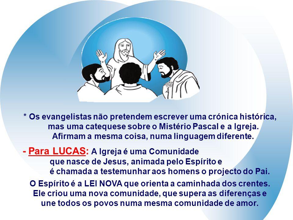 + João coloca o Dom do Espírito Santo no dia da Páscoa (cf. Jo 20,19-23) Os Sinais (