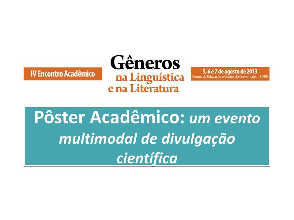 Pôster Acadêmico: um evento multimodal de divulgação científica
