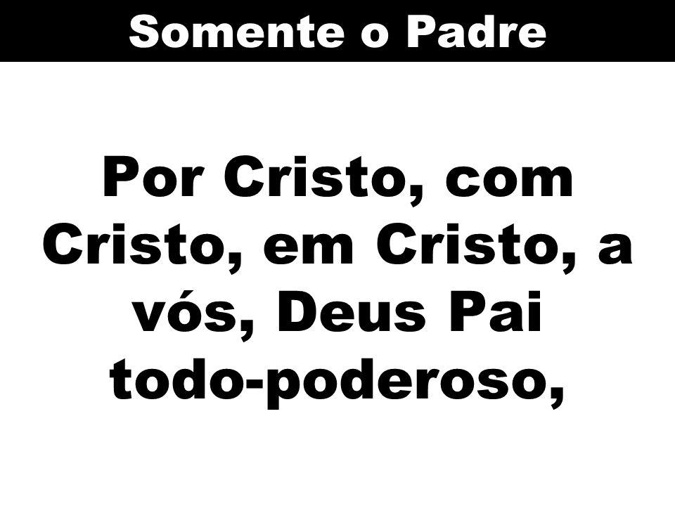 Por Cristo, com Cristo, em Cristo, a vós, Deus Pai todo-poderoso, Somente o Padre
