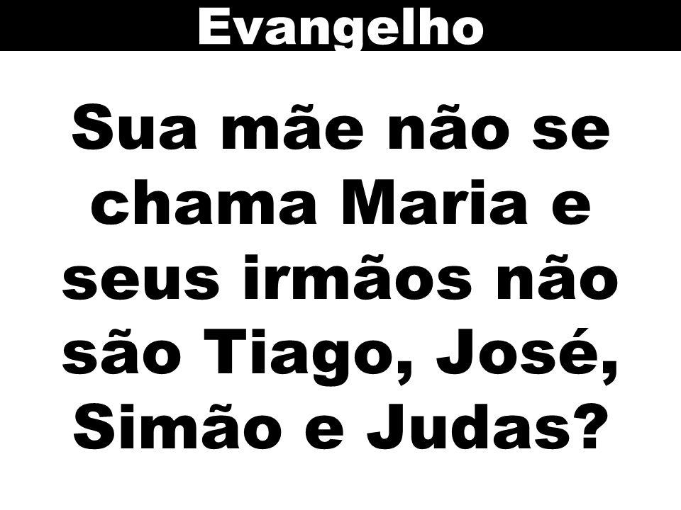 Sua mãe não se chama Maria e seus irmãos não são Tiago, José, Simão e Judas? Evangelho