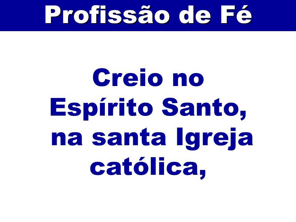 Creio no Espírito Santo, na santa Igreja católica, Profissão de Fé