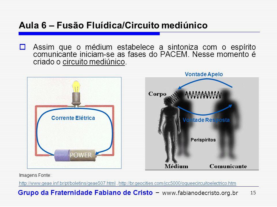 Grupo da Fraternidade Fabiano de Cristo – www.fabianodecristo.org.br 15 Assim que o médium estabelece a sintoniza com o espírito comunicante iniciam-s