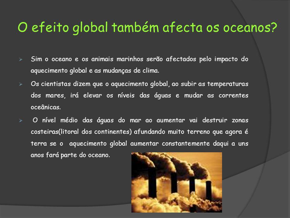 O efeito global também afecta os oceanos.