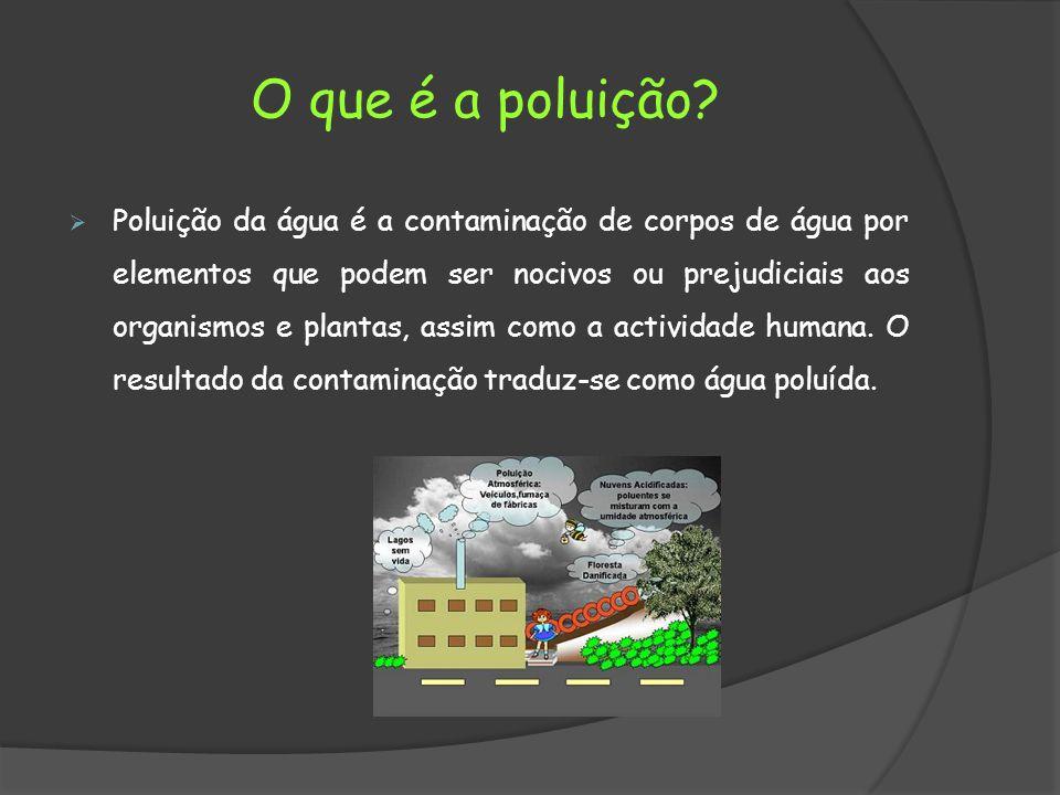 O que é a poluição.