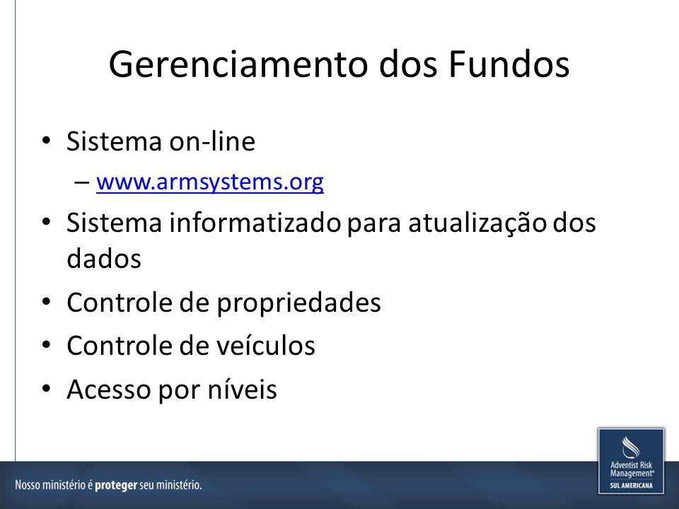 Gerenciamento dos Fundos Sistema on-line – www.armsystems.org www.armsystems.org Sistema informatizado para atualização dos dados Controle de propried