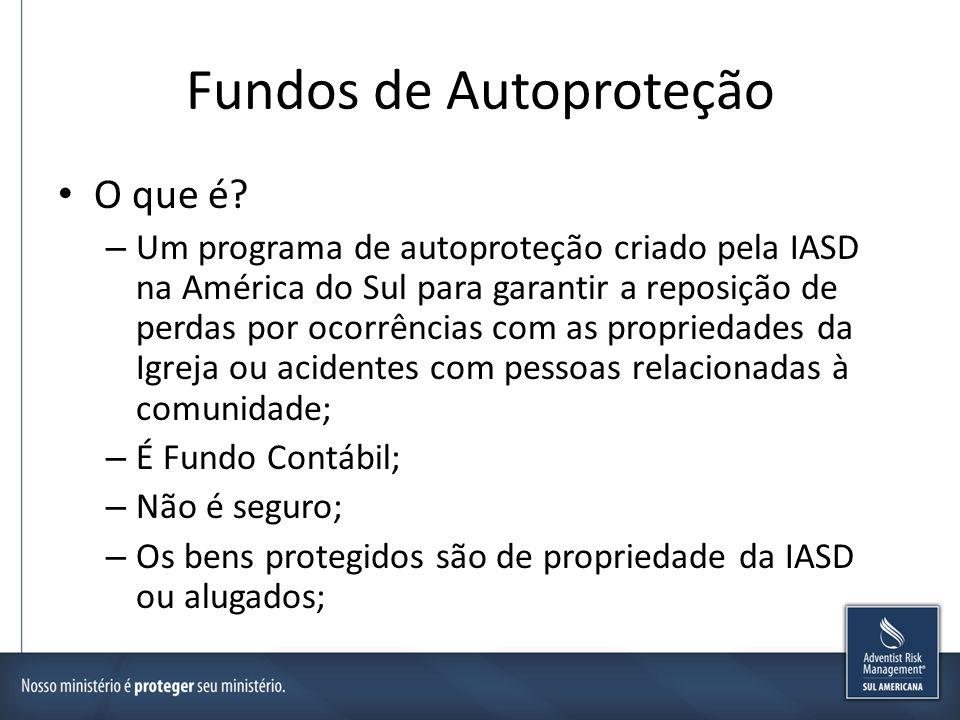 Fundos de Autoproteção Objetivos – Economia de Recursos – Agilidade de Atendimento – Clareza nas informações de itens protegidos e de ocorrências – Coberturas adequadas