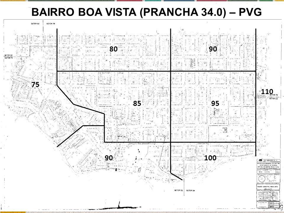 90 75 95 9080 110 85 100 BAIRRO BOA VISTA (PRANCHA 34.0) – PVG
