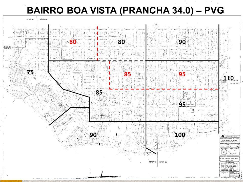 90 75 95 9080 110 85 100 95 BAIRRO BOA VISTA (PRANCHA 34.0) – PVG