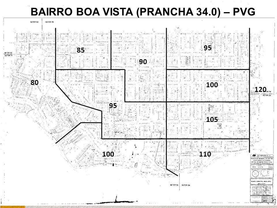 100 80 100 95 85 90 120 95 110 105 BAIRRO BOA VISTA (PRANCHA 34.0) – PVG