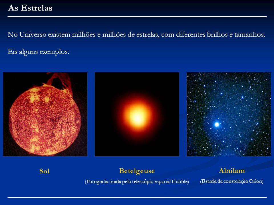 As Estrelas No Universo existem milhões e milhões de estrelas, com diferentes brilhos e tamanhos.