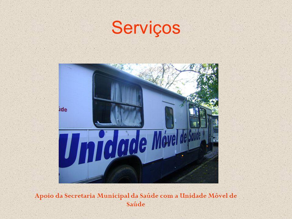 Serviços Apoio da Secretaria Municipal da Saúde com a Unidade Móvel de Saúde