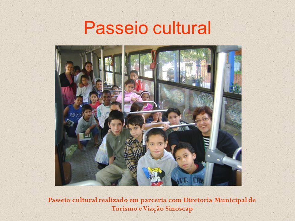 Passeio cultural Passeio cultural realizado em parceria com Diretoria Municipal de Turismo e Viação Sinoscap