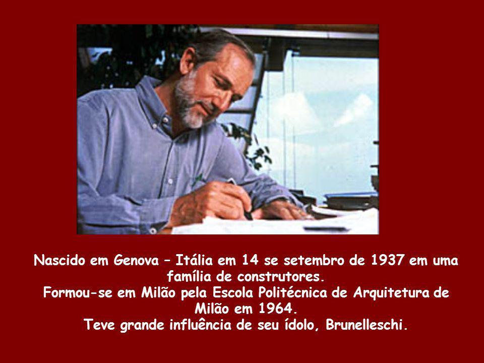 Nascido em Genova – Itália em 14 se setembro de 1937 em uma família de construtores. Formou-se em Milão pela Escola Politécnica de Arquitetura de Milã